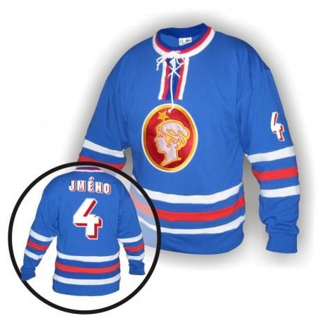 Dobový dres Poldi Kladno modrý
