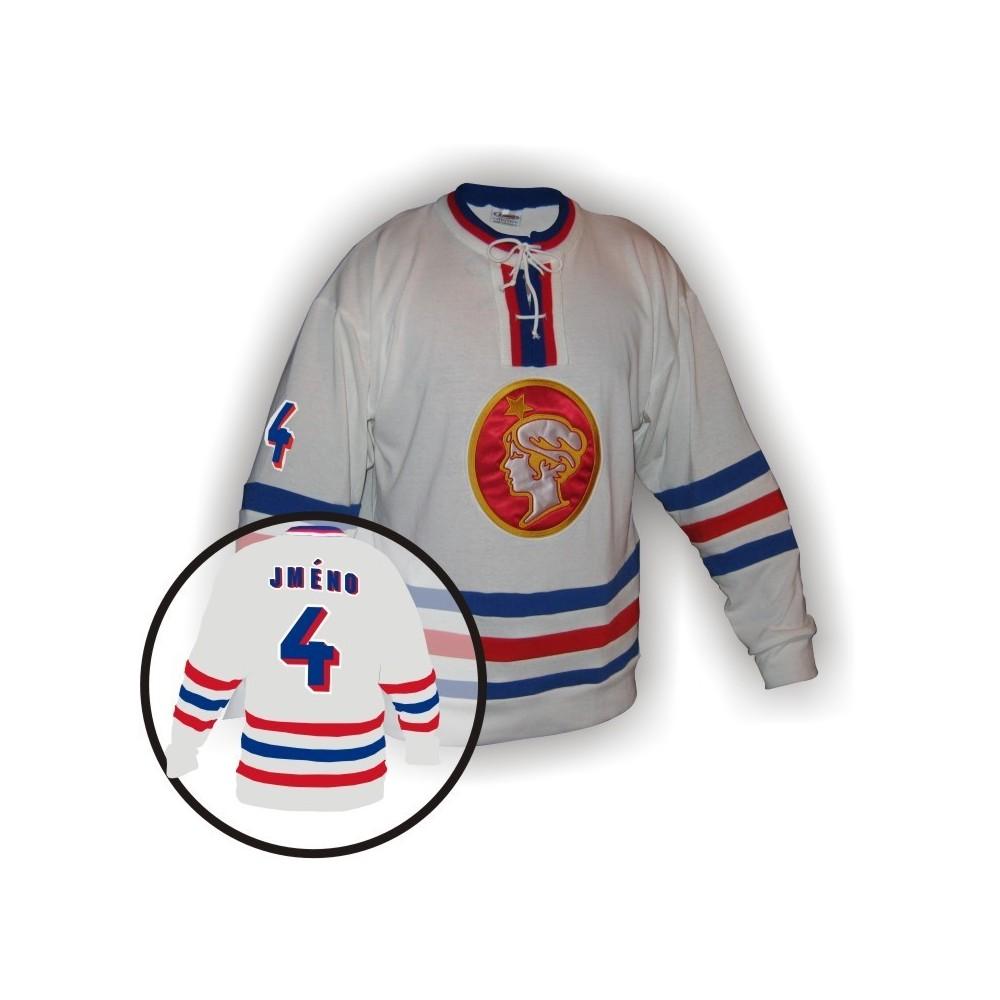 Dobový dres Poldi Kladno bílý