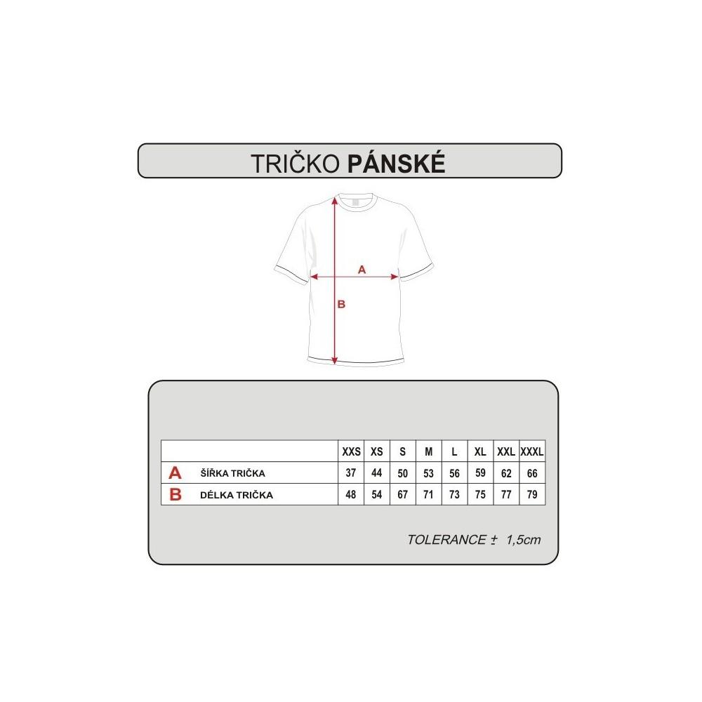 trička - tabulka velikostí