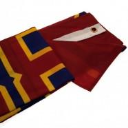 Vlajka FC Barcelona Est. 1899 rozložená