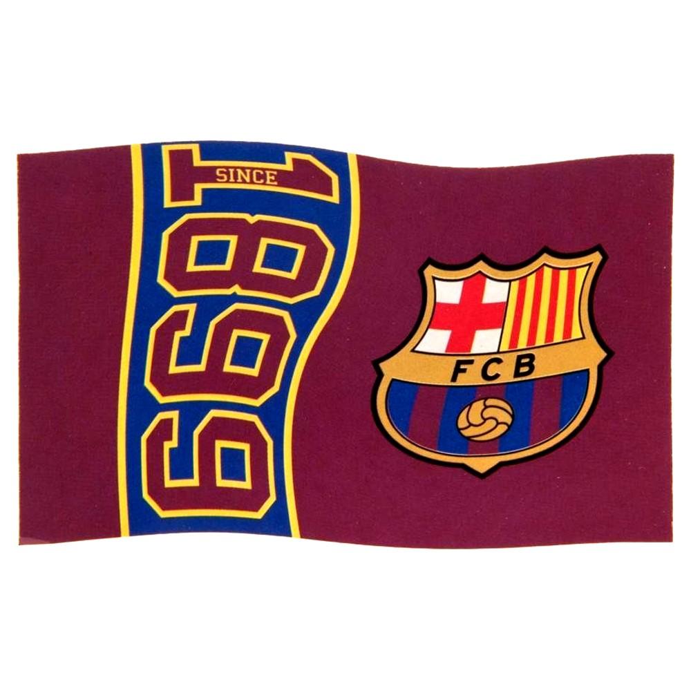 Vlajka FC Barcelona Since 1899 rozložená