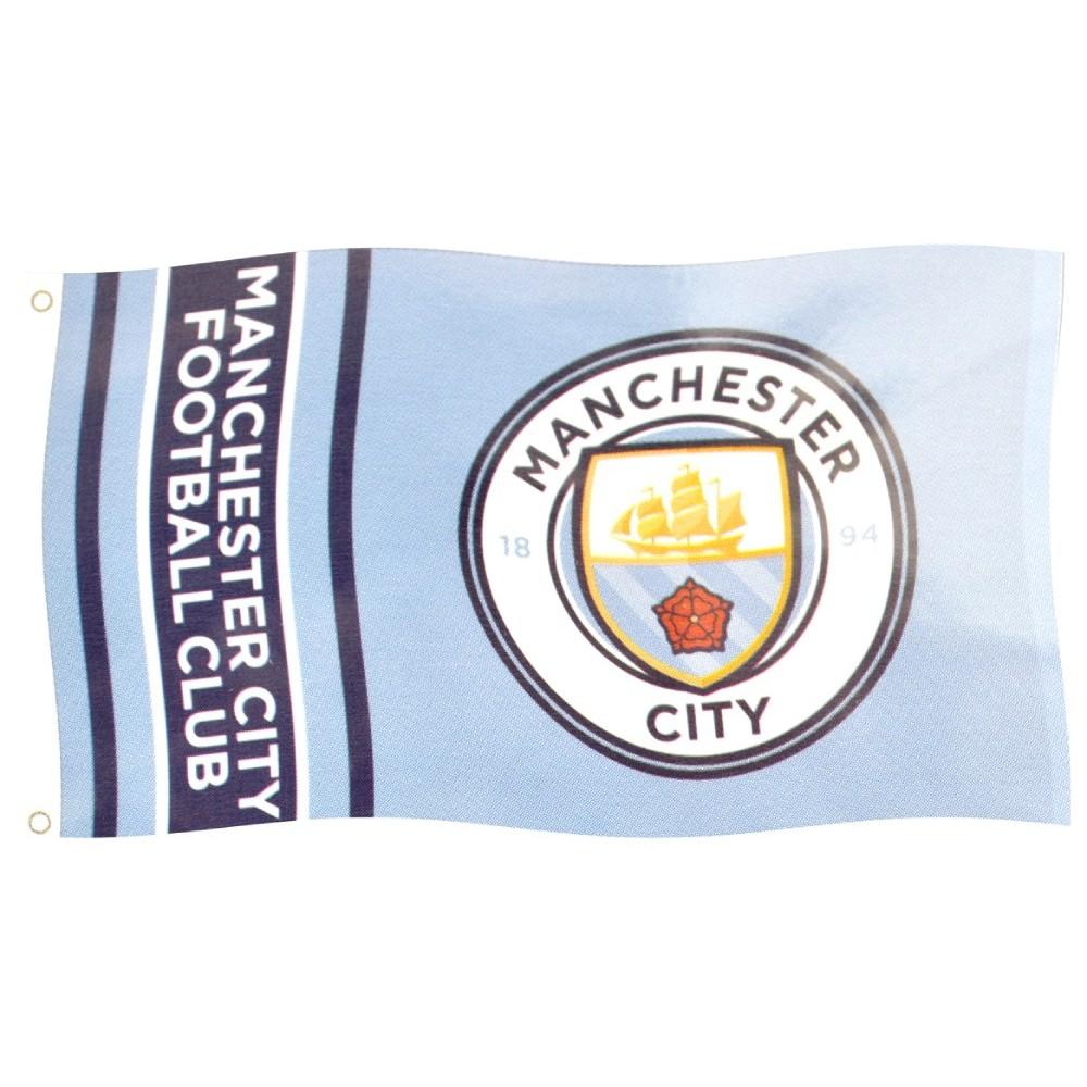 Vlajka Manchester City Wordark Stripes