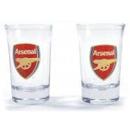 Dva panáky Arsenal s logem klubu