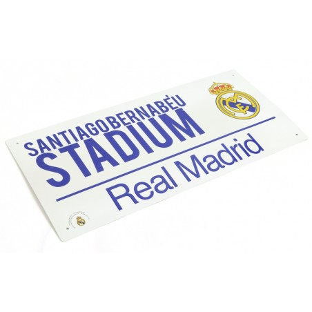 Plechová ceduľa Real Madrid