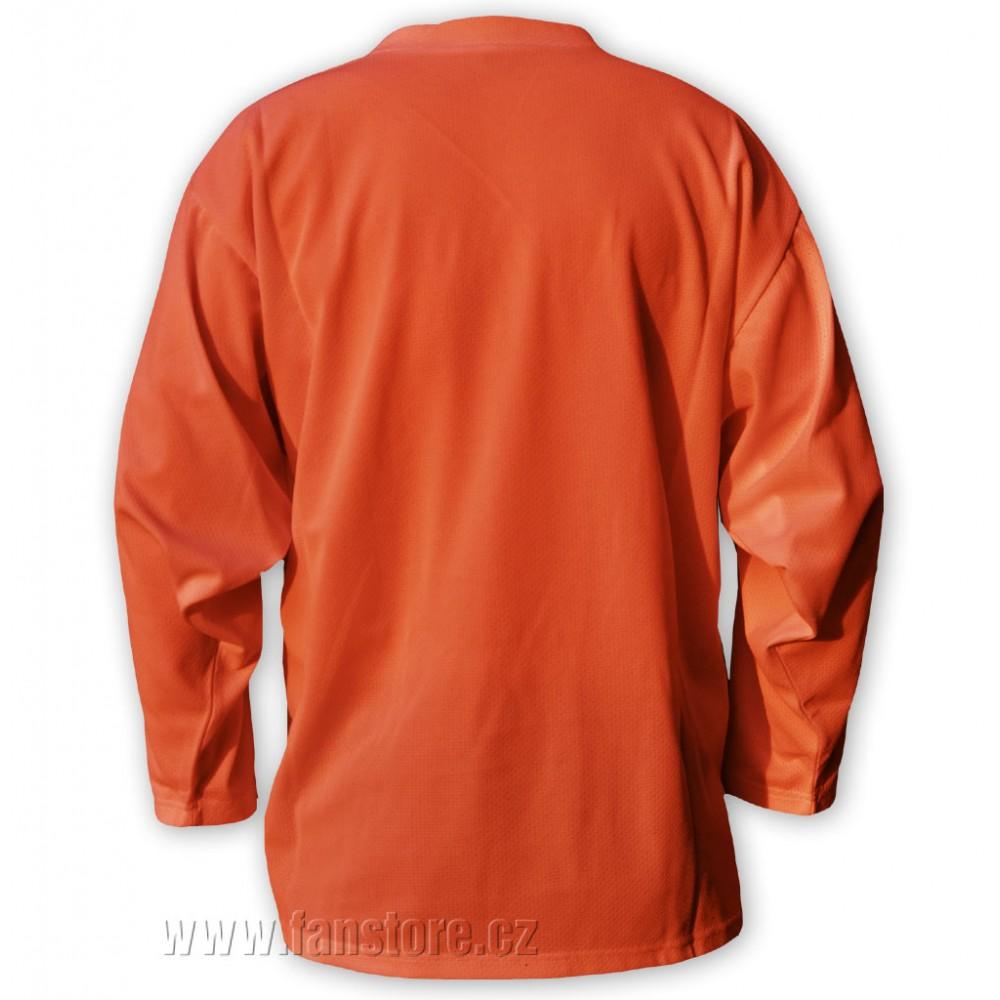 Hokejový rozlišovací dres oranžový záda