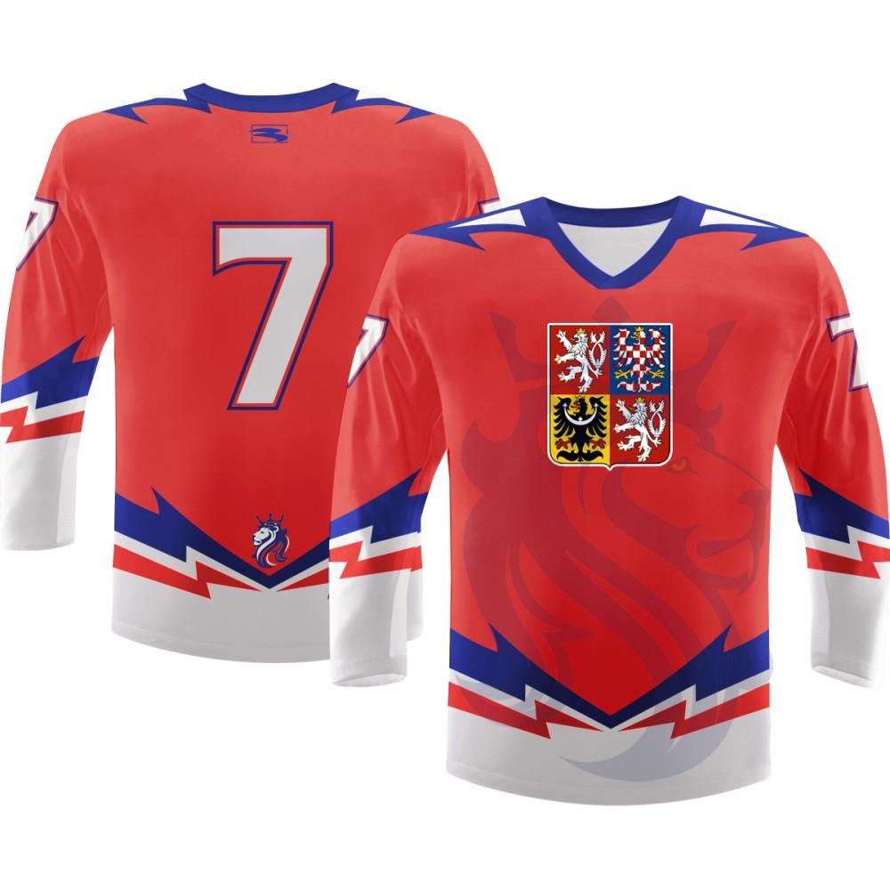 Hokejový dres ČR Repre, červený záda