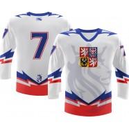 Hokejový dres ČR Repre bílý záda