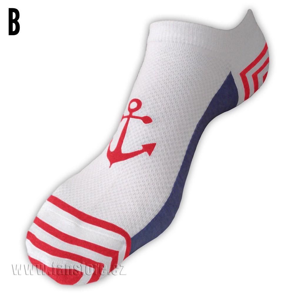 Námornícke ponožky dámske - varianta B