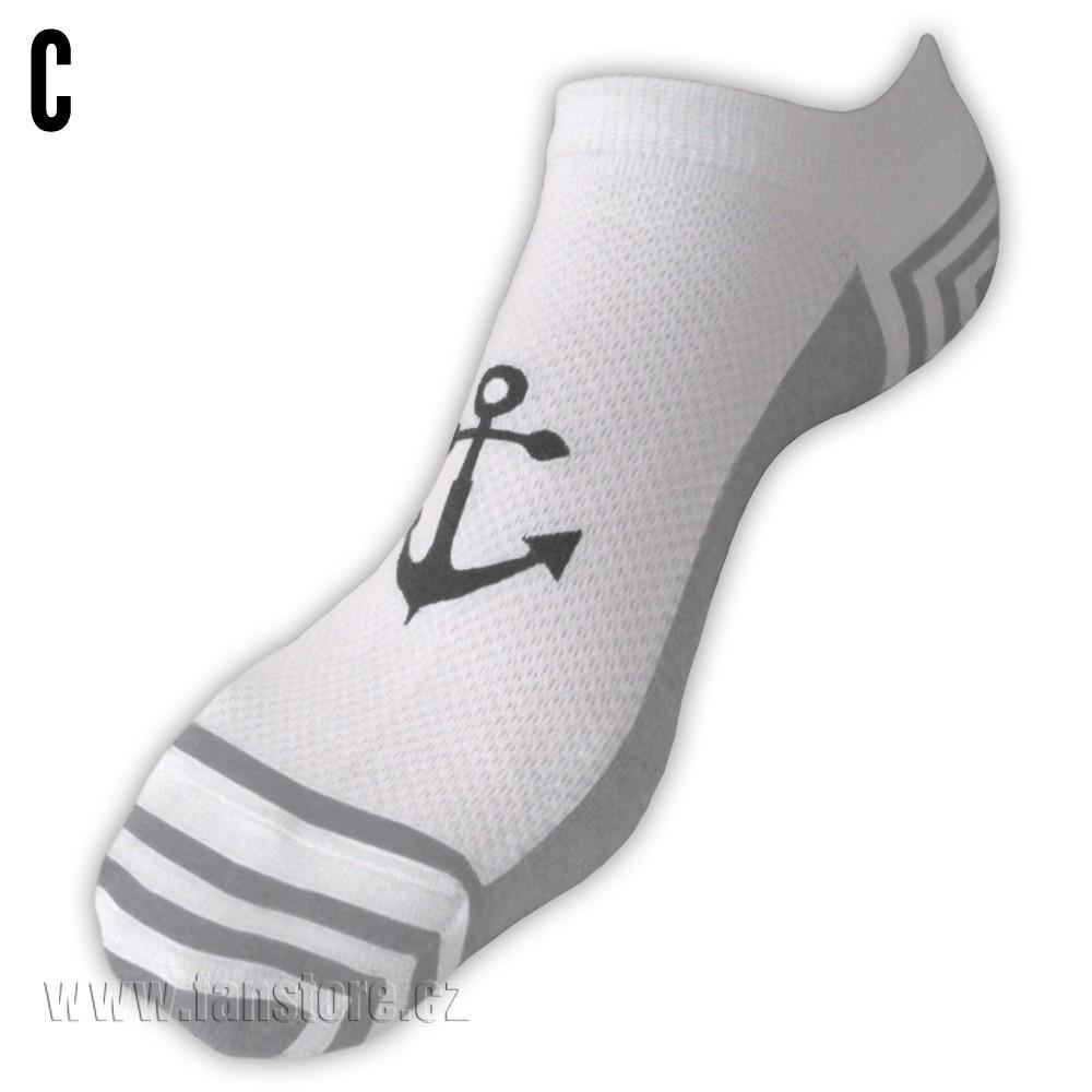 Námornícke ponožky dámske - varianta C