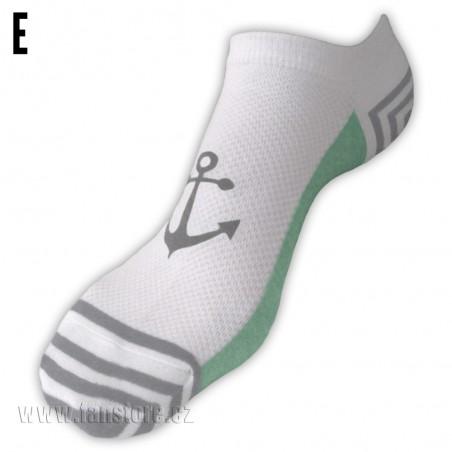 Námornícke ponožky dámske - varianta E