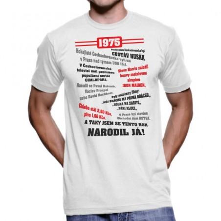 Retro tričko Můj rok 1975