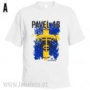 Sportovní tričko Švédsko s hokejovým motivem maska