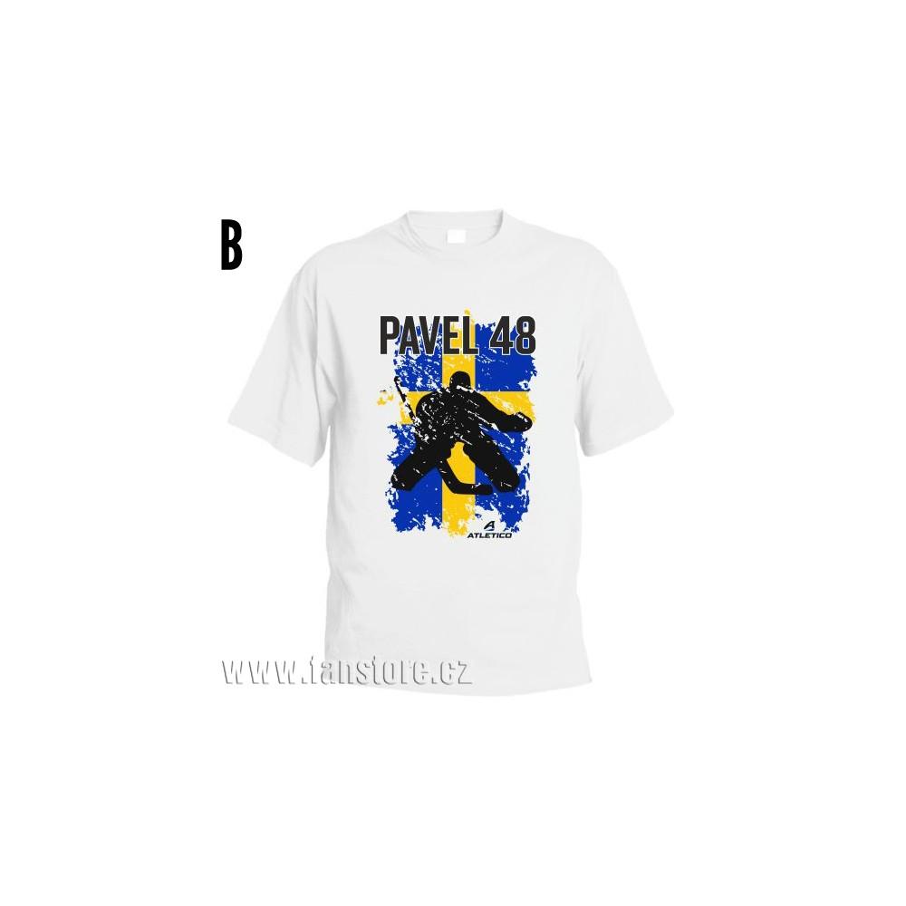 Športové tričko Švédsko s hokejovým motívom brankár
