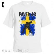 Sportovní tričko Švédsko s hokejovým motivem hráč