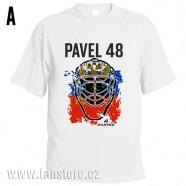 Sportovní tričko Rusko s hokejovým motivem maska