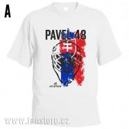 Sportovní tričko Slovensko s hokejovým motivem maska