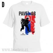 Sportovní tričko Slovensko s hokejovým motivem hráč 2