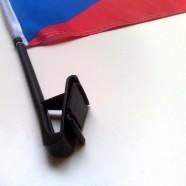 Autovlajka Česká republika detail uchycení