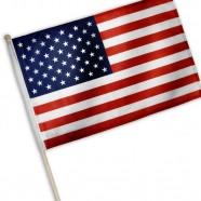 Vlajka USA mávací