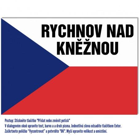 Vlajka s potlačou - príklad druhý