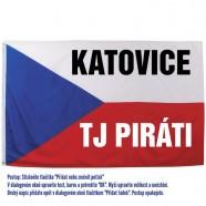 Vlajka s potiskem - příklad