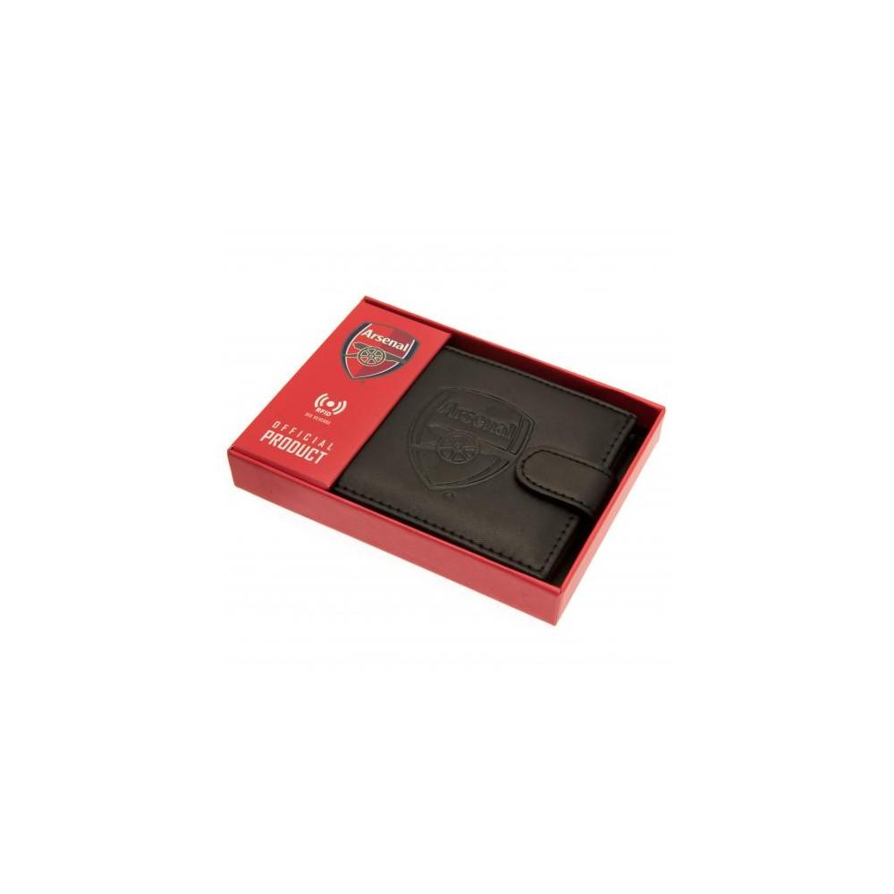Peňaženka Arsenal FC RFID kožená v krabičke