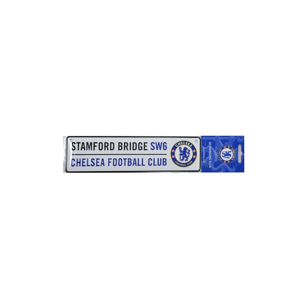 Plechová cedulka Chelsea FC do okna