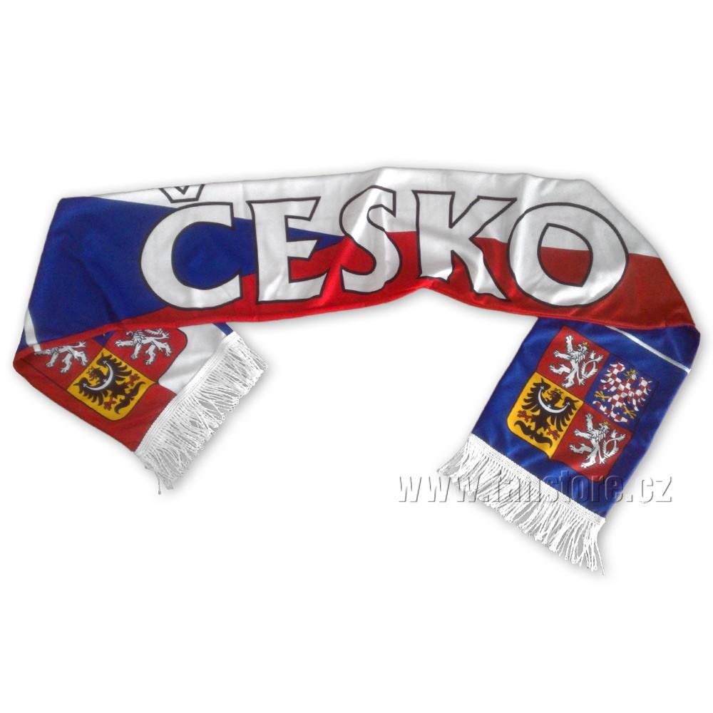 Šál ČR vlajka, letní - líc