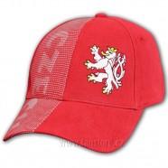 Kšiltovka CZECH červená - lev