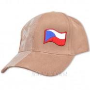 Kšiltovka CZECH béžová - vlajka