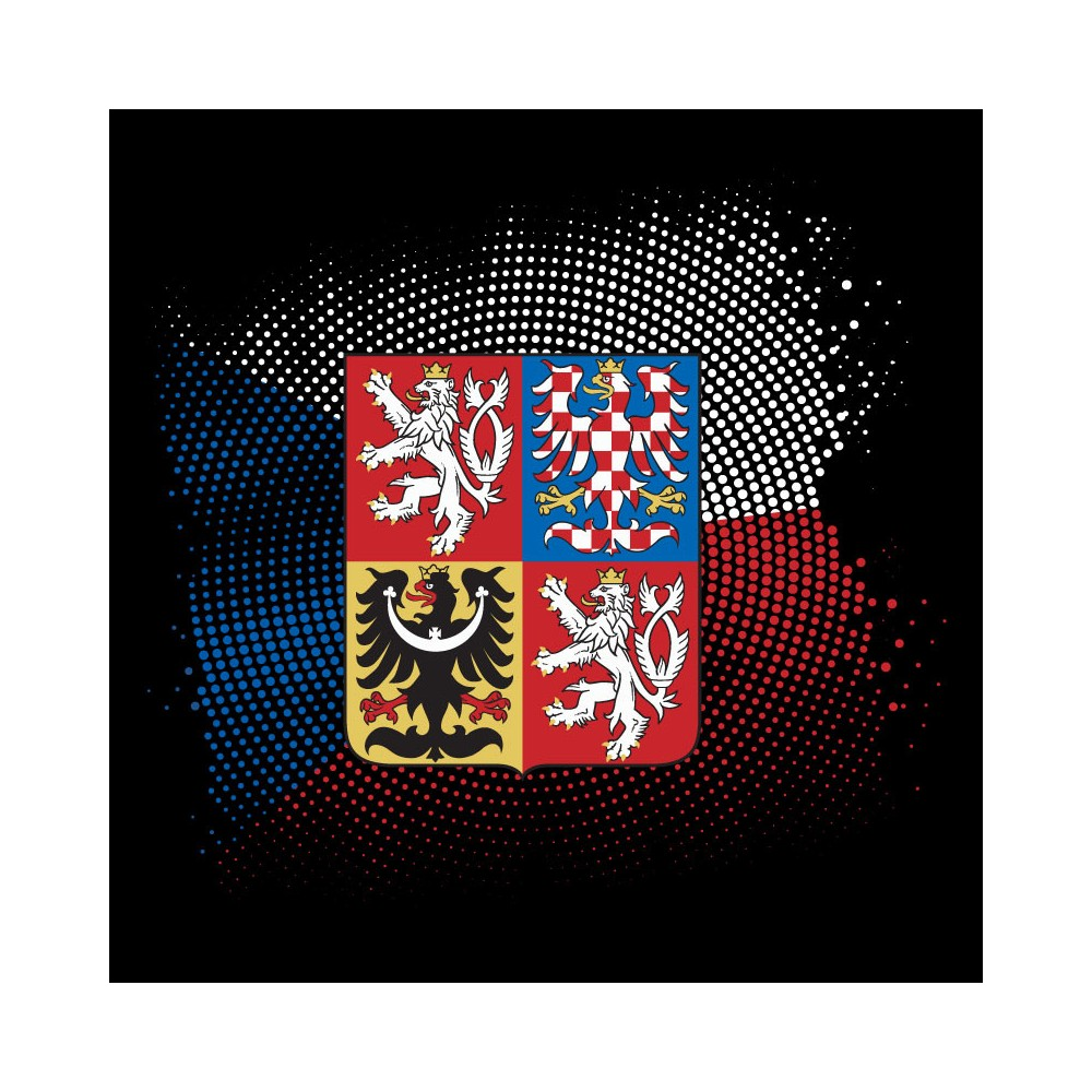 Tričko Starway - Znak ČR, detail potlače