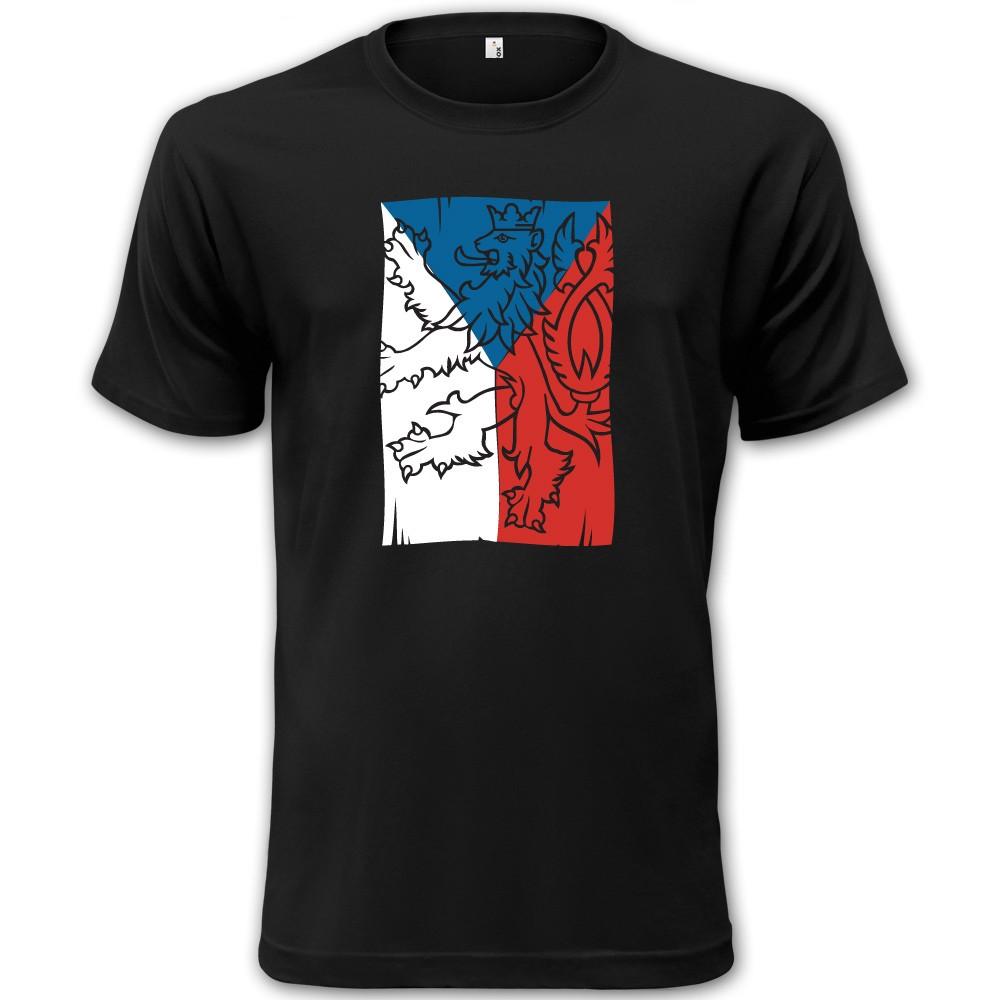 Tričko čierne s vlajkou