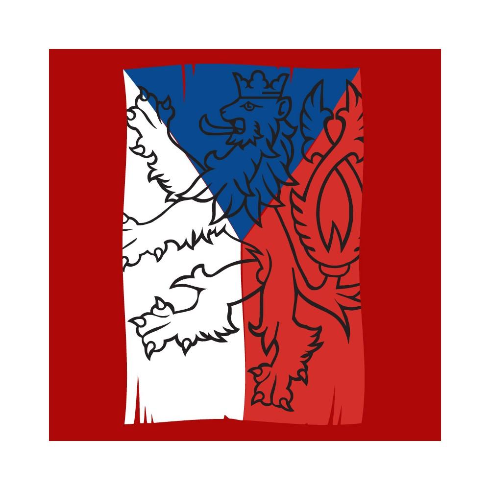 Tričko Vlajka, detail motivu