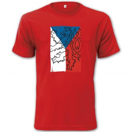 Tričko s českou vlajkou červené