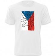 Tričko s českou vlajkou bílé