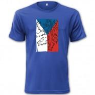 Tričko s českou vlajkou modré