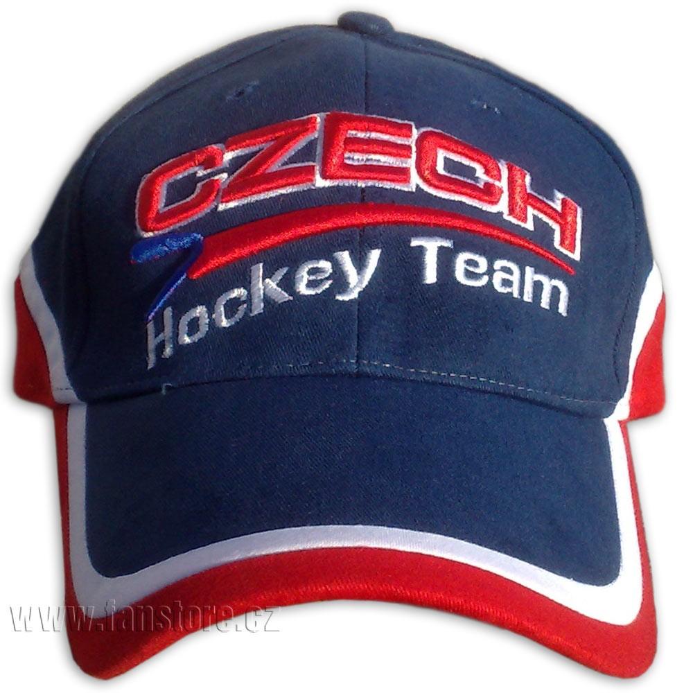 Šiltovka hokejová modrá čelo
