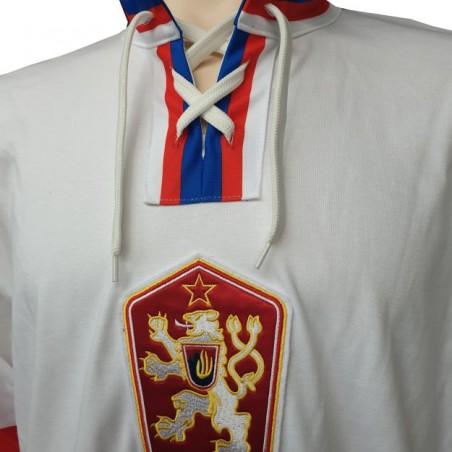 Dobový dres ČSSR  bílý límec