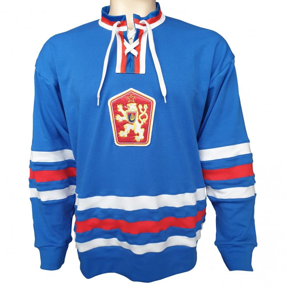 Dobový dres ČSSR  modrý