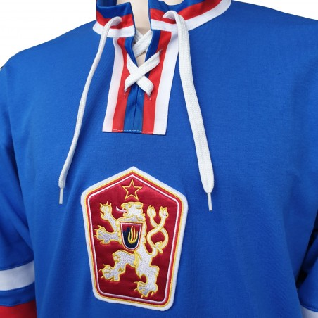 Dobový dres ČSSR  modrý límec