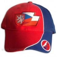 Kšiltovka Česko červená čelo
