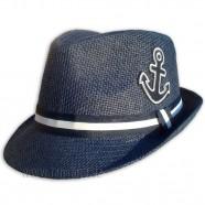 Plážový klobouk s kotvou