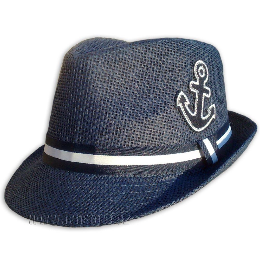 Plážový klobúk s kotvou