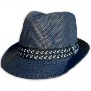 Plážový klobouk s námořnickou stuhou