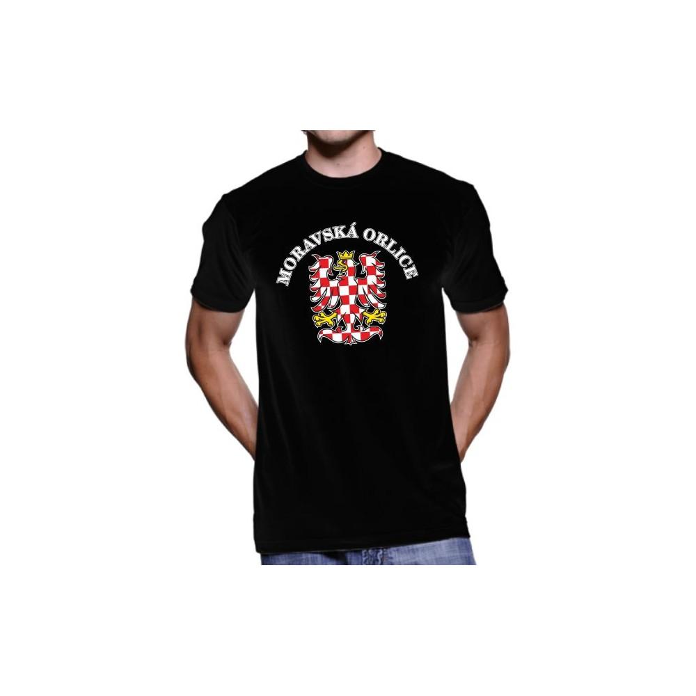 Tričko Moravská orlice černé