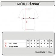 Tabulka velikostí - trička