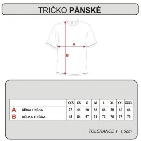 Tabuľka veľkostí - trička