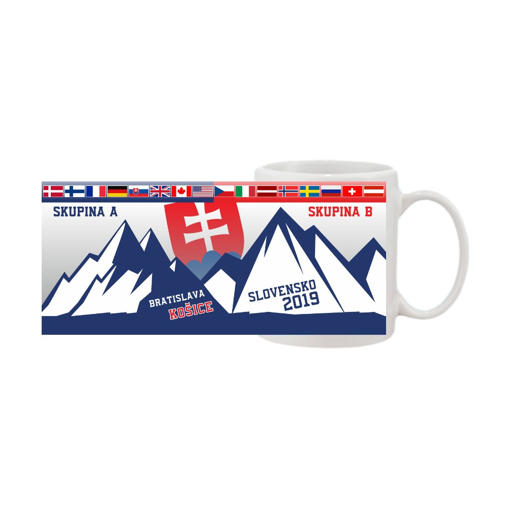 Hokej hrnček MS 2019 - vlajky, motív