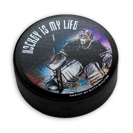 Hokejový puk Brankár