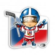 Samolepka Fanúšik českého hokeja